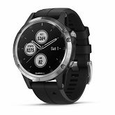 Garmin fenix 5 Plus, srebrni s crnim remenom