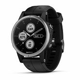 Garmin fenix 5S Plus, srebrni s crnim remenom