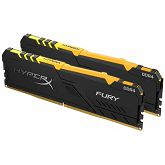 Memorija Kingston DDR4 16GB 2666MHz (2x8GB) HyperX Fury Black RGB