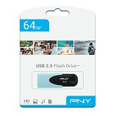 USB stick PNY 64GB USB2.0 Attaché 4 Pastel, plavi