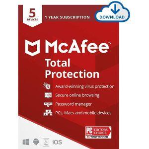 Antivirusni program McAfee Total Protection - 1 godina, Za 5 uređaja, elektronički certifikat