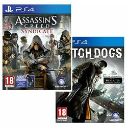 Assassin's Creed Syndicate + Watch Dogs PS4 - AKCIJA