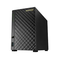 NAS uređaj Asustor AS3102T, CPU: Intel Celeron 1.6GHz Dual-Core (burst up to 2.08~2.48GHz) Processor; Memory: 2GB DDR3L (not expandable)?; HDD: 3.5