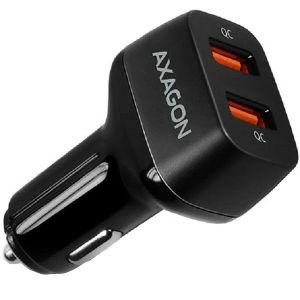 Auto punjač AXAGON PWC-DQC 2x QC3.0, 36W, crni