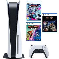 Konzola PlayStation 5 B Chassis + Ratchet & Clank Rift Apart PS5 + Destruction AllStars PS5 + The Nioh Collection PS5