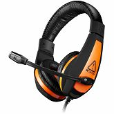 Slušalice CANYON Gaming 3.5mm jack with adjustable microphone and volume control, cable 2M, Black