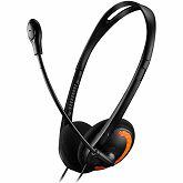 Slušalice Canyon with microphone, volume control and adjustable headband, cable 1.8M, Black/Orange