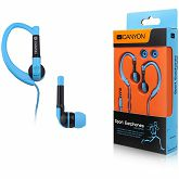 Slušalice Canyon sport, over-ear fixation, inline microphone, blue