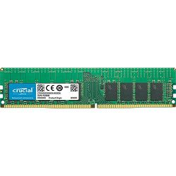 Memorija Crucial DRAM 16GB DDR4  2400 MT/s (PC4-19200) CL17 DR x8 ECC Unbuffered DIMM 288pin, EAN: 649528772473