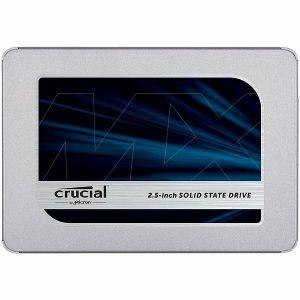 "SSD CRUCIAL MX500 500GB 2.5"" 7mm (with 9.5mm adapter), SATA 6 Gbit/s, Read/Write: 560 MB/s / 510 MB/s, Random Read/Write IOPS 95K/90K"