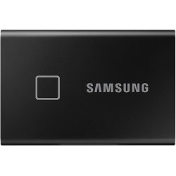 Eksterni SSD Samsung T7 Touch 1TB, Read/Write: 1050/1000 MB/s, USB Type C-to-C and Type C-to-A cables, USB 3.2, black metallic