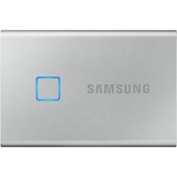 Eksterni SSD Samsung T7 Touch 1TB, Read/Write: 1050/1000 MB/s, USB Type C-to-C and Type C-to-A cables, USB 3.2, silver
