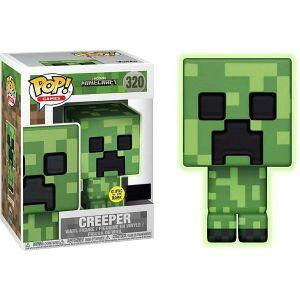 FUNKO POP! VINYL: GAMES: MINECRAFT: GREEN CREEPER GITD (EXC)