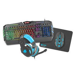 Gaming Combo set, Genesis FURY Thunderstreak, 4in1, miš + tipkovnica + podloga + slušalice - BEST BUY