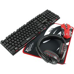 Gaming combo set White Shark GC-4101 COMANCHE - 4in1