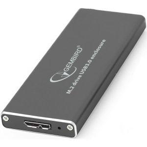 Gembird M.2 drive USB3.0 enclosure, black