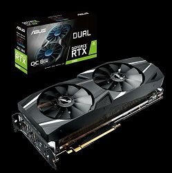 Grafička Asus Dual GeForce® RTX 2080 OC edition 8GB GDDR6 DUAL-RTX2080-O8G with high-performance cooling for 4K and VR gaming - AKCIJA