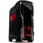 Kućište INTER-TECH K1 Gaming Midi Tower, ATX, 2xUSB3.0, 1xUSB2.0, Audio, Card reader, PSU optional, Sidepanel with window, 3x 120mm fans with RED LEDs, Dust filters, Black