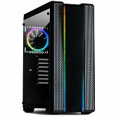 Kućište INTER-TECH S-3901 IMPLUSE Gaming Midi Tower, ATX, 2xUSB3.0, 2xUSB2.0, audio, PSU optional, Tempered glass side panel, 2xRGB LED strips in the front, RGB control board, 120mm RGB fan, Dust filt