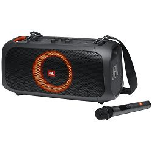 Zvučnik JBL Partybox On-The-Go, bežični, bluetooth, vodootporan IPX4, 100W, crni