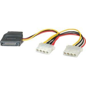 Kabel Roline Y-naponski, SATA na 3×4-pin