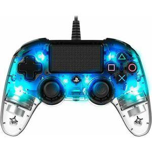 Kontroler Nacon PS4 Compact Light, prozirno-plavi