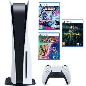 Konzola PlayStation 5 B Chassis + Ratchet & Clank Rift Apart PS5 + Destruction AllStars PS5 + Returnal PS5
