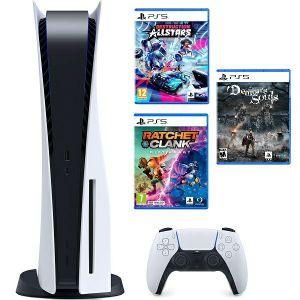 Konzola PlayStation 5 B Chassis + Ratchet & Clank Rift Apart PS5 + Destruction AllStars PS5 + Demon's Souls PS5