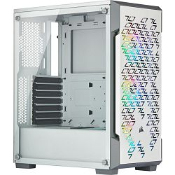 Kućište Corsair iCUE 220T RGB Airflow, Tempered Glass, Mid-Tower, Smart Case, White