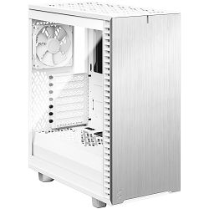 Kućište Fractal Define 7 Compact White TG, Midi Tower, Bijelo sa staklom, Bez napajanja