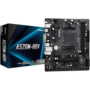 Matična ploča ASRock A520M-HDV, AM4, 2xDDR4, 1 x PCIe3.0x16, 1 x PCIe3.0x1, ALC887, GbE LAN, 4xSATA3, 6x USB3.2Gen1, 6x USB2.0, Ultra M.2, Micro ATX