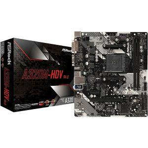 Matična ploča Asrock A320M HDV R4.0, AM4, 2xDDR4, 1xPCIex16, 1xPCIex1, ALC887, GbE LAN, 4xSATA3, 6x USB 3.2 Gen1, 4x USB 2.0, Ultra M.2, Micro ATX - PROMO