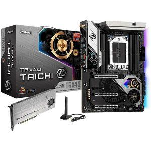 Matična ploča Asrock AMD TRX40 TAICHI,  DDR4 4666 (OC) 3 PCIe 4.0 x16, 1 PCIe 4.0 x1 NVIDIA NVLINK , 3-Way SLI , AMD 3-Way CrossFireX 8 SATA3, 1 Hyper M.2 (PCIe Gen4 x4 SATA3), 1 Hyper M.2, ATX
