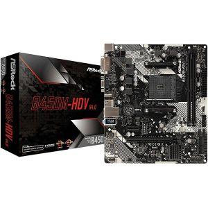 Matična ploča ASRock B450M-HDV R4.0, AM4, 4xDDR4, 1xPCIex16, 1xPCIex1, ALC897, GbE LAN, 4xSATA3, 6xUSB3.1 Gen1, 2xUSB2.0, 1xM.2, Micro ATX - PROMO