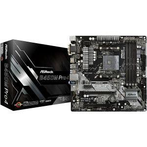 Matična ploča Asrock B450M PRO4, AM4, DDR4, Broj utora 4, 2133,2400,2666,2933,3200 MHz, PCIe 3.0 x16 1, PCIe x4 1, PCIe x1 1, SATA3 4, RAID 0,1, 1x 10/100/1000 Ethernet, USB 2.0 2, mATX