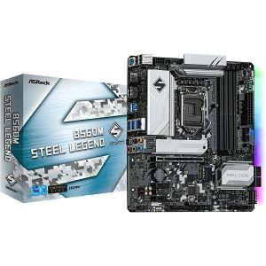 Matična ploča ASRock B560M Steel Legend, LGA1200, 4xDDR4, 1xPCIe4.0x16, 2xPCIex1, ALC897, 2.5Gb LAN, 6xSATA3, 6xUSB3.2 Gen1, 6xUSB2.0, USB-C, 3xM.2, Micro ATX