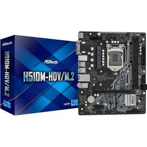 Matična ploča ASRock H510M-HDV/M.2, LGA1200, 2xDDR4, 1xPCIe4.0x16, 1xPCIex1, ALC897, GbE LAN, 4xSATA3, 4xUSB3.2 Gen1, 6xUSB2.0, 1xM.2, Micro ATX