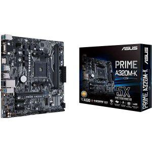 Matična ploča Asus PRIME A320M-K/CSM, AM4, 2xDDR4, 1 PCIe 3.0 x16, 1 PCIe x1, Realtek ALC887, Gigabit LAN, 4 SATA3, 6 USB 2.0, 4 USB 3.1, M.2, mATX