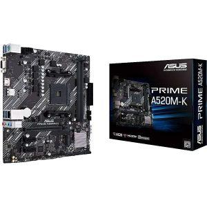 Matična ploča Asus PRIME A520M-K, AM4, 4xDDR4, 1xPCIex16, 2xPCIex1, ALC887, 1Gb Ethernet, 4xSATA3, 6xUSB 3.2 Gen1, 6xUSB 2.0, 1xM.2, Micro ATX