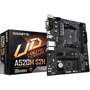 Matična ploča Gigabyte GA-A520M-S2H, AM4, 2xDDR4, 1xPCIex16, 1xPCIex1, ALC887, GbE LAN, 4xSATA3, 6x USB 3.2 Gen 1, 6x USB 2.0, 1xM.2, Micro ATX