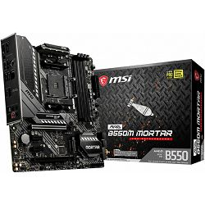 Matična ploča MSI MAG B550M MORTAR, AM4, 4xDDR4,  AMD CrossFire, 2xPCI-Ex16, 1xPCI-Ex1, 6xSATA3, 7x USB3.2Gen1/2, 6x USB2.0, ALC1200,  RTL8125B 2.5G LAN, 6xSATA3, 2xM.2, mATX - BEST BUY