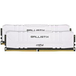 Memorija Crucial DRAM Ballistix White 2x8GB (16GB Kit) DDR4 3000MT/s  CL15  Unbuffered DIMM 288pin White