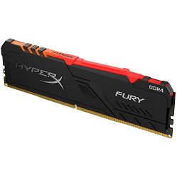 Memorija Kingston DDR4 8GB 2666MHz HyperX Fury Black RGB