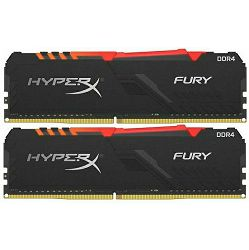 Memorija Kingston DDR4 HX Fury RGB, 16GB (2x 8GB), 3200MHz