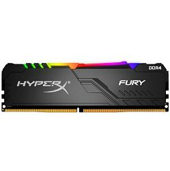 Memorija Kingston HyperX Fury RGB DDR4 8GB, 2400MHz, CL15, HX424C15FB3A/8