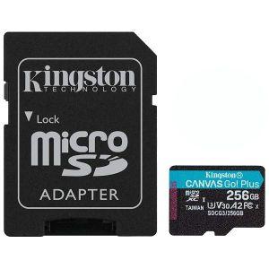 Memorijska kartica Kingston Canvas Go Plus, microSDHC, HC Class 10, 256GB + SD Adapter