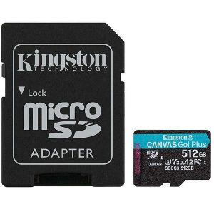 Memorijska kartica Kingston Canvas Go Plus, microSDHC, HC Class 10, 512GB + SD Adapter