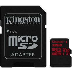 Memorijska kartica Kingston microSDXC, Canvas React, UHS-I, 32GB - MAXI PONUDA