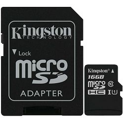 Memorijska kartica Kingston microSDXC, Canvas, Class10, 16GB - MAXI PONUDA