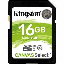 Memorijska kartica Kingston SDXC Canvas R80, 16GB